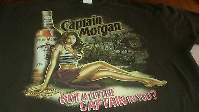 Captain Morgan got a little captain in you tshirt brown short sleeve xl