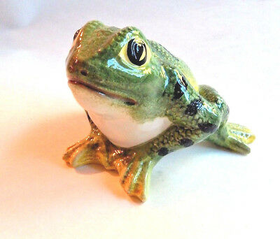 Toad Frog Figurine made in Italy Hand painted