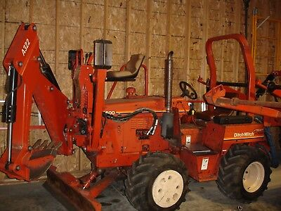 Ditch Witch 4500DD Vibratory Plow W/Backhoe