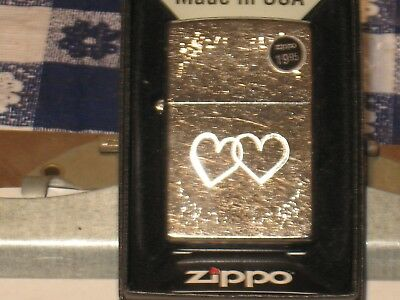 New 2 Valentine Hearts Love Your Lady ZIPPO Windproof Flame USA Lighter 24018