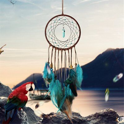 Dream Catcher Handmade Feather Wall Hanging Home Decor Ornament Craft Circle