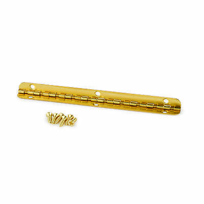 Small Piano Hinge Brass Plated 96mm x 7mm