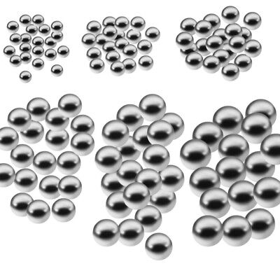 1/2/3/500 Pcs Dia 8mm Bicycle Silver Tone Steel Bearing Ball Replacement Parts