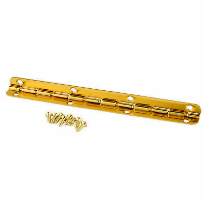 Small Piano Hinge Brass Plated 115mm x 9mm