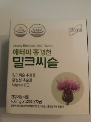 Atomy Rhodiola Milk Thistle Extract Healthy Liver Fatigue Releases 120 Tablets