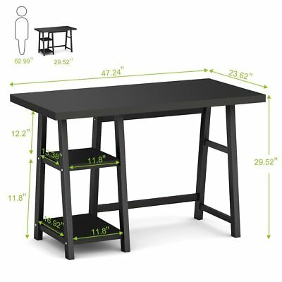 Computer Desk PC Laptop Table Study Workstation Home Office Furniture Black New