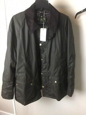 BRAND NEW BARBOUR Men's ASHBY JACKET OLIVE WAXED COTTON XLarge