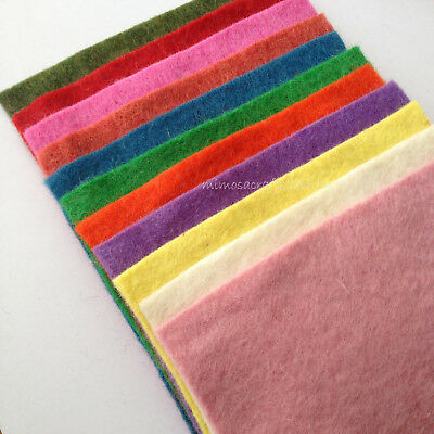 11pcs Multi-color 19cm X 19cm Felt Sheet Squares Art Crafts Thickness 2mm