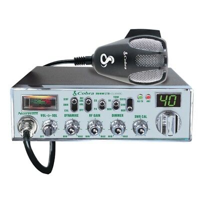 Cobra 29NW Classic 29 Nightwatch CB Radio w/ 40-Channels & Instant Channel 19