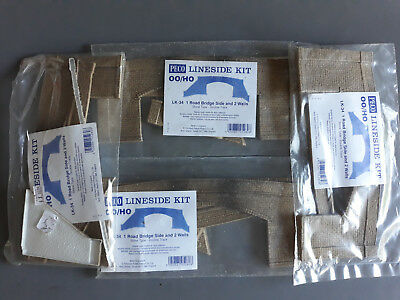 Peco Lk-34 Brick Bridge Sides X 4 As Shown As New Boxed Oo Ho Scale(Fn)