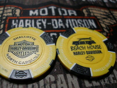 Yellow & Black Poker Chip from Beach House Harley Davidson Shallotte, NC