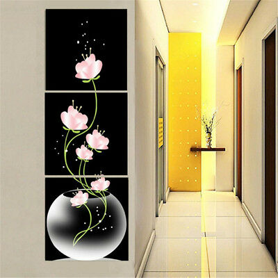 Unframed Modern Abstract Art Lotus Canvas Oil Painting Picture Home Wall Decor