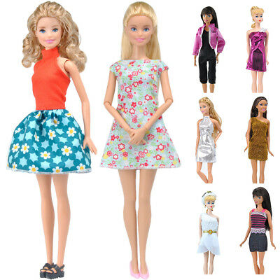 Doll Clothes Wear Handmade Tops Dress Pants Suit for Barbie Accessories Reliable
