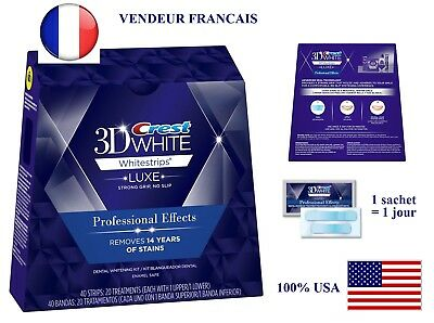 Whitestrips 3D Luxe Professional bandes blanchiment dentaire Dents blanches