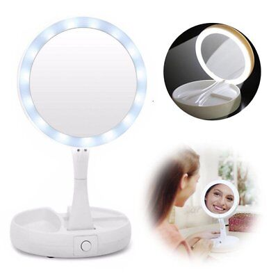 Beautify Makeup Mirror Lighted Vanity Shaving illuminated 10x Magnify Dual sided
