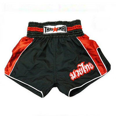 ThaiSmai Muay Thai Retro Black Red Shorts