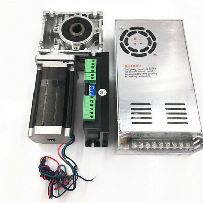 Worm Geared Stepper Motor 15:1 Nema23 Gearbox RV30 L56mm 3A 2ph for CNC Router