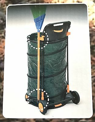NEW MGS Leaf Pop Up Garden Bag 160L With wheeled trolley and holder plus clips