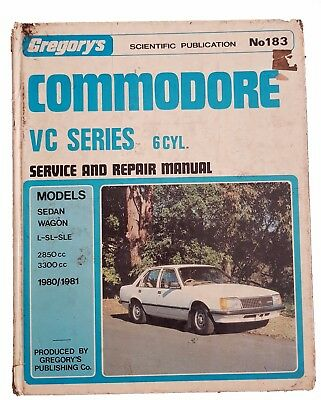 Gregorys Holden Commodore VC Series 6Cyl 1980-1981 Service and Repair Manual