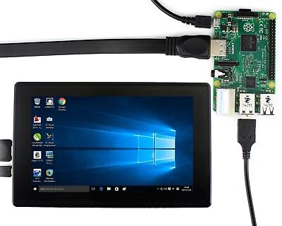 Waveshare Raspberry Pi 7inch IPS Screen Capacitive Touch LCD with Case 1024x600