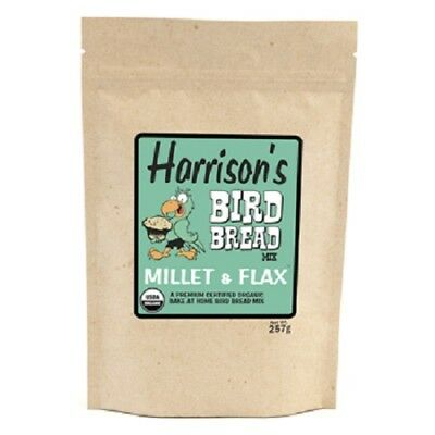 HARRISON'S CERTIFIED ORGANIC BIRD BREAD MIX - MILLET AND FLAX - 257g