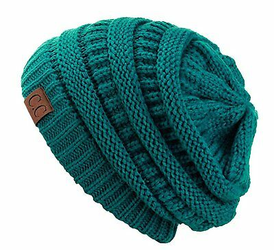 efffe1723cd Trendy Warm Chunky Soft Stretch Cable Knit Slouchy Beanie Skully HAT20A