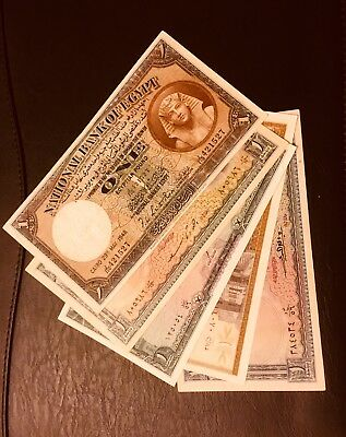 All Egypt Egyptian Banknote 1 Ponud 5 notes