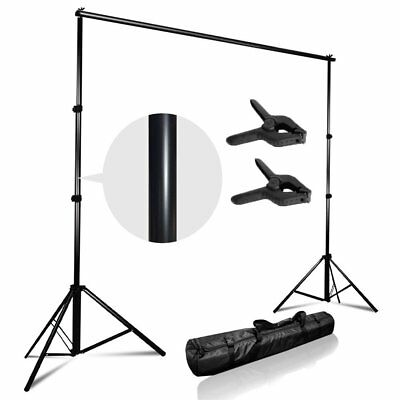 Adjustable Background Support Stand Photo Backdrop Crossbar Kit Photography MA