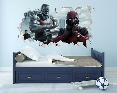 Deadpool Movie Wall Hole 3D Decal Vinyl Sticker Decor Room Smashed DPWH002