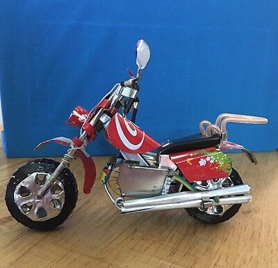 COCA COLA TIN MOTORCYCLE Handmade From Coke Can