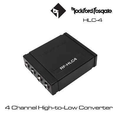 Rockford Fosgate RF-HLC4 - 4 Channel High-Level to Low-Level Signal Converter