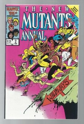 New Mutants Annual #2 1St Appearance Of Psylocke Sharp Corners