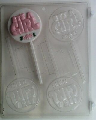 It's A Girl Lollipop Chocolate Candy Mold Molds Diy Baby Shower Party Favors Cc