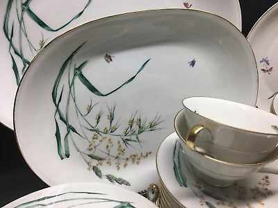 Beautiful Set Heinrich Bavaria China Germany Butterfly Dragonfly Dishes