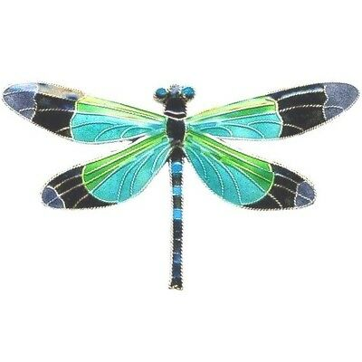 Radiant Gossamer Wing Dragonfly Cloisonne Pin | Nature Jewelry
