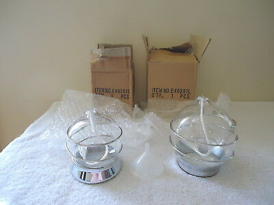 """Vintage Set Of 2 """" NOS """" Lamplight Farms Oil Glass Globes """" GREAT COLLECTIBLES"""