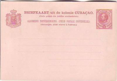 CURACAO/DutchAntilles. clasic/unused,  five-cent PS Card.