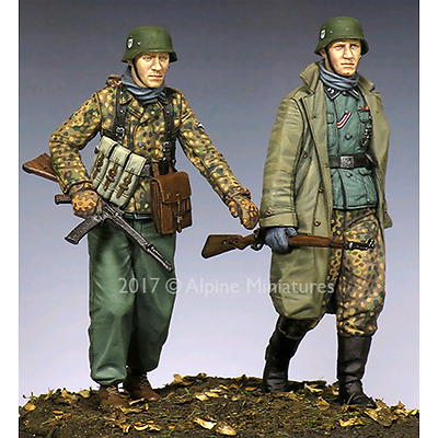 "ALP35231 - Alpine Miniatures: 1/35; Set #2 ""KG Hansen at Poteau""; 2 figure scala"