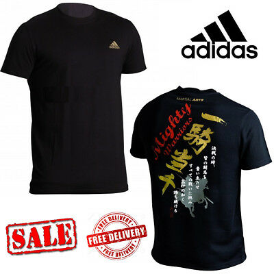 adidas Combat Sports Martial Arts Warriors Japanese Kanji T-Shirts Tops Tee Sale