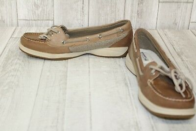 72e20a6e2c7c WOMENS SPERRY TOP Sider Angelfish Gold Glitter Boat Shoes 9.5 M ...