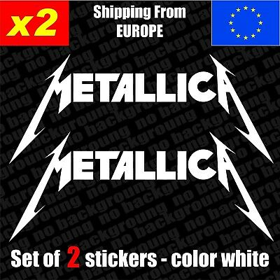 Set of 2 METALLICA Logo Vinyl Sticker Decal Aufkleber Die-Cut Car , laptop