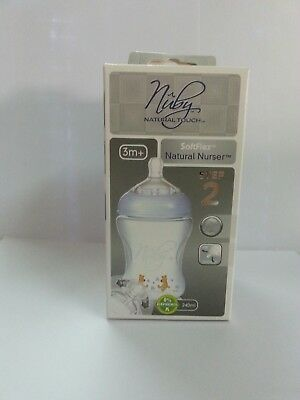 Nuby Natural Touch PP Bottles 240 ML 3+