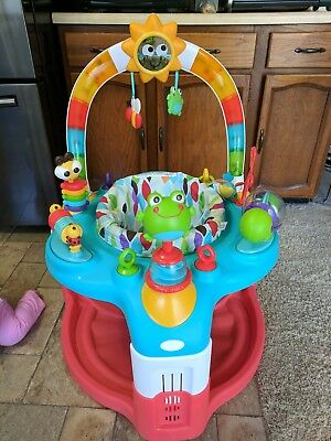 Bright Starts 2-in-1 Laugh & Lights Activity Gym & Saucer Baby great condition!