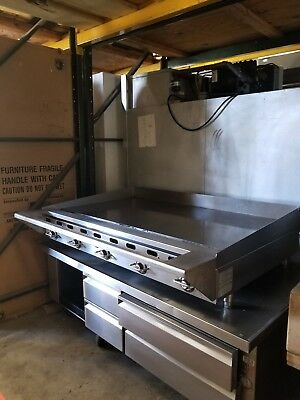 """Msa60 Used Vulcan 60"""" Griddle With Pan Rail Includes Free Shipping"""