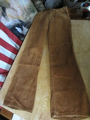 SEDGEFIELD vtg 70s FLARE mens BROWN Corduroy Jeans pants 28-29x31-32 bell bottom