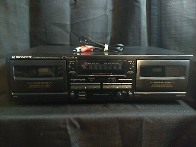 PIONEER CT-W205R Auto Reverse Stereo Dual Cassette Tape Deck WORKS FREE SHIPPING