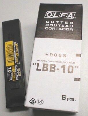 6x OLFA LBB-10 18mm = 60 ultrascharfe Excel Black Klingen - in Kunststoffbox