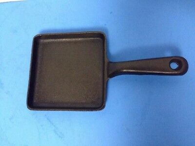 SMALL FRY Cast Iron Skillet Frying Pan 5X5 Made USA #68H-I CAMPING BACKPACK VGC!