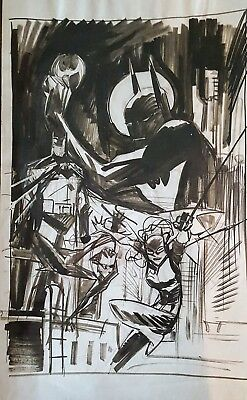 Sean Murphy Batman Beyond 2.0 vol.1 Rewired prelim cover w/ 5 BONUS sketch