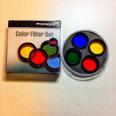 "Orion 1.25"" Color Filter Set for Telescopes -  Blue, Red, Green, Yellow"